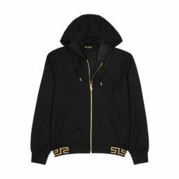 VERSACE Black Hooded Jersey Sweatshirt
