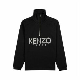 Kenzo Black Logo-print Cotton Sweatshirt