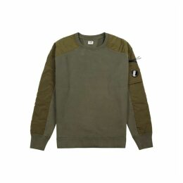 C.P. Company Olive Cotton And Shell Sweatshirt