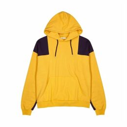 Flagstuff Panelled Hooded Cotton Sweatshirt