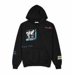 Flagstuff Black Printed Jersey Sweatshirt