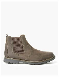M&S Collection Wide Fit Leather Pull-On Chelsea Boots