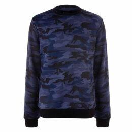Firetrap Camo Sweatshirt Mens