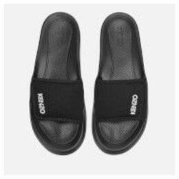 KENZO Men's Logo Pool Slide Sandals - Black