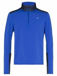KJUS blue calderas midlayer jacket