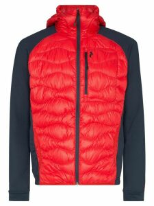 Peak Performance helium hybrid hooded jacket - Red