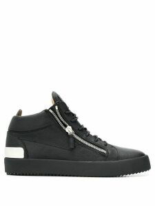 Giuseppe Zanotti mid-top zipped sneakers - Black