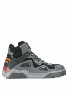 Diesel panelled hiking boots - Black