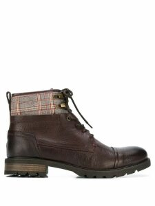 Tommy Hilfiger plaid patch ankle boots - Brown