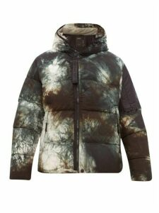 Nemen - Blade Down Hooded Puffer Jacket - Mens - Dark Green