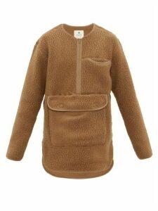 Snow Peak - Half Zip Technical Fleece Sweatshirt - Mens - Beige