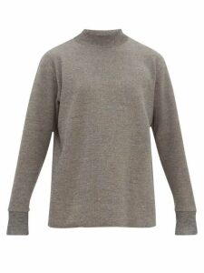 Snow Peak - Funnel Neck Dropped Sleeve Sweater - Mens - Grey