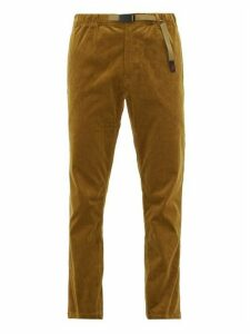 Gramicci - Dropped Seat Stretch Cotton Corduroy Trousers - Mens - Brown