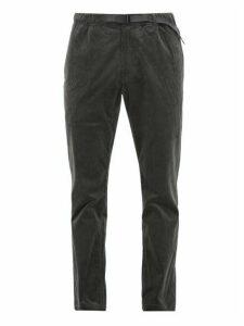 Gramicci - Dropped Seat Stretch Cotton Corduroy Trousers - Mens - Grey