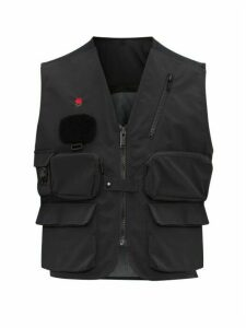 Undercover - Zip Panel Cargo Pocket Utility Vest - Mens - Black