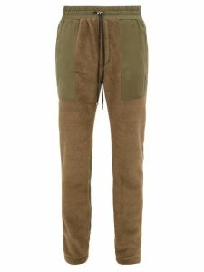 Amiri - Panelled Technical Fleece Track Pants - Mens - Green