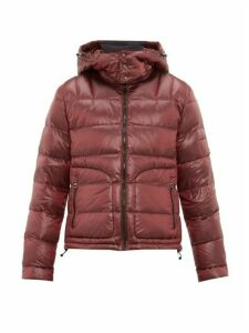 49 Winters - Quilted Down Hooded Jacket - Mens - Burgundy