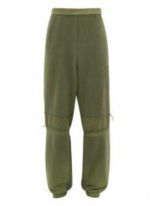 Ambush - Bleached Cotton Track Pants - Mens - Green