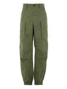 Ambush - Flight Cuffed Ankle Cotton Twill Cargo Trousers - Mens - Green
