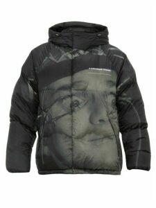 Undercover - A Clockwork Orange Printed Down Hooded Jacket - Mens - Grey