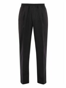 The Gigi - King Wool Blend Twill Trousers - Mens - Navy