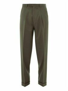 Éditions M.r - Nathan Wool Tapered Leg Trousers - Mens - Light Green