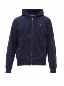 Polo Ralph Lauren - Logo Embroidered Fleece Zip Through Hooded Jacket - Mens - Navy