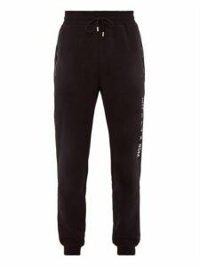 1017 Alyx 9sm - Visual Logo Print Cotton Blend Track Pants - Mens - Black