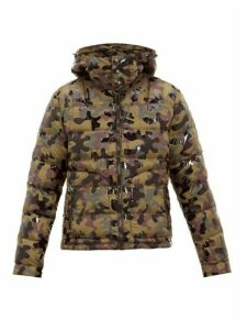 49 Winters - Camouflage Print Hooded Down Jacket - Mens - Khaki Multi