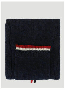 Thom Browne Shetland Wool Scarf in Blue size One Size
