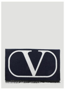 Valentino Wool Scarf in Blue size One Size