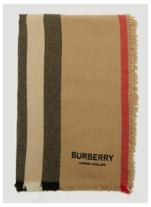 Burberry Icon Stripe Scarf in Beige size One Size