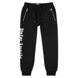 Palm Angels Black Logo-print Cotton Sweatpants