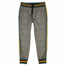 Dolce & Gabbana Checked Wool-blend Sweatpants