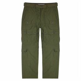 White Mountaineering Army Green Shell Trousers