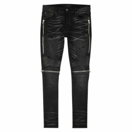 Amiri MX2 Black Distressed Skinny Jeans