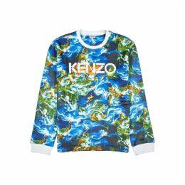 Kenzo Kenzo World Printed Felt Sweatshirt