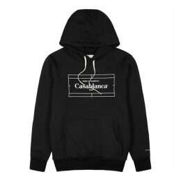 CASABLANCA Tennis Court Black Cotton-jersey Sweatshirt