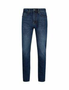Mens Organic Blue Slim Mid Wash Jeans, Blue