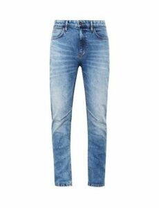 Mens Organic Blue Ninety North Slim Vintage Wash Jeans, Blue