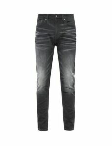 Mens Organic Black Tapered Fit Carter Jeans, Black