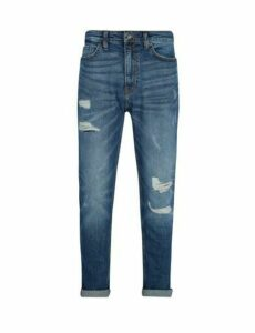 Mens Organic Midwash Tapered Fit Carter Jeans, Blue