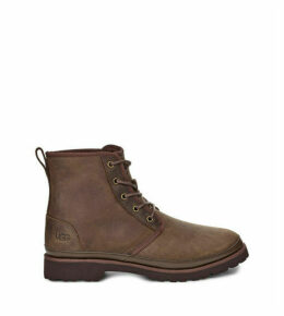 UGG Men's Harkland Waterproof Boot in Grizzly, Size 12, Leather