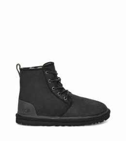 UGG Men's Harkley Leather Boot in Black Tnl, Size 13