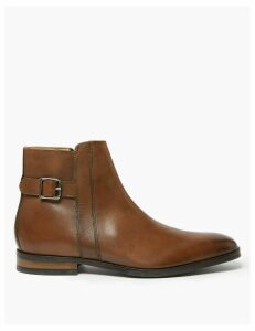 M&S Collection Saffiano Leather Jodhpur Boots