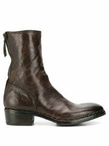 Premiata contrast stitching ankle boots - Brown