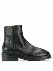 Marsèll textured side zip boots - Black