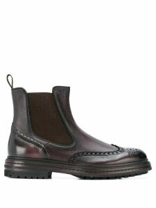 Santoni embellished chelsea boots - Brown