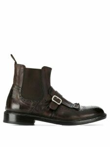 Green George buckle-detail ankle boots - Brown