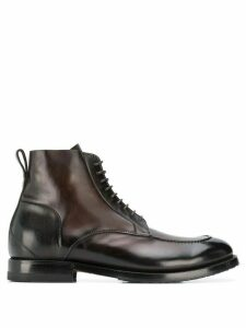 Silvano Sassetti lace-up ankle boots - Brown